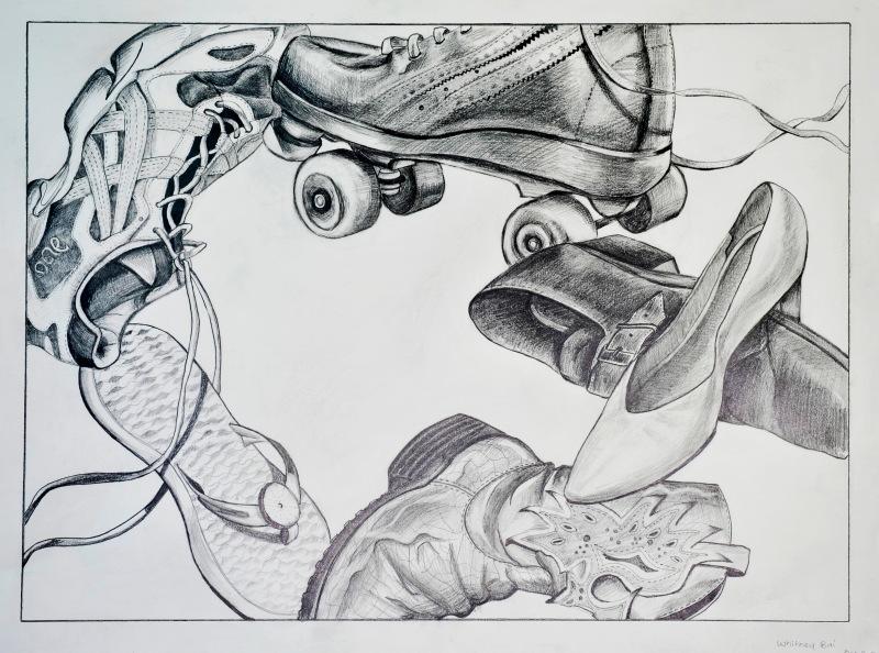 pencil drawing, still life,